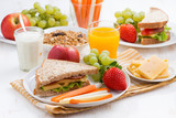school breakfast with fruits and vegetables