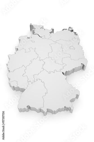 Deutschland Bundesländer 3D Poster