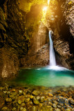 Kozjak waterfall in Triglav natioanl park in Slovenia. Long exposure technic with motion blurred water