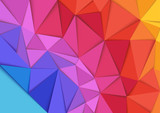 Abstract Colorful Mosaic Background - Geometric Illustration, Vector