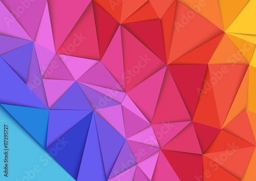 Obraz Abstract Colorful Mosaic Background - Geometric Illustration, Vector