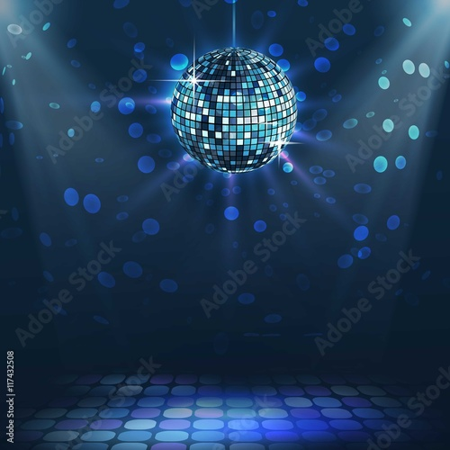 Naklejka Bright disco ball