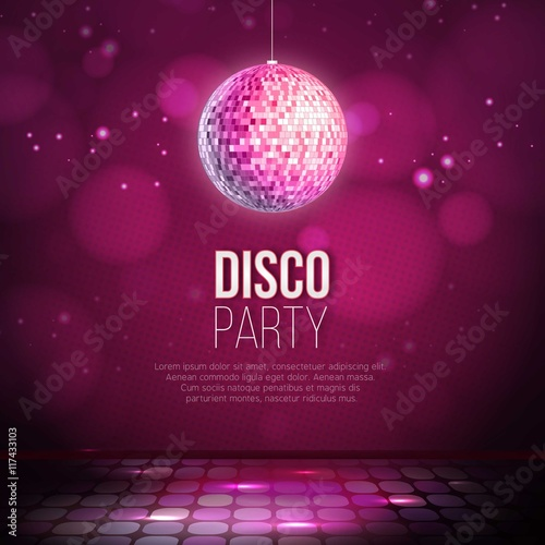 Disco party background - 117433103