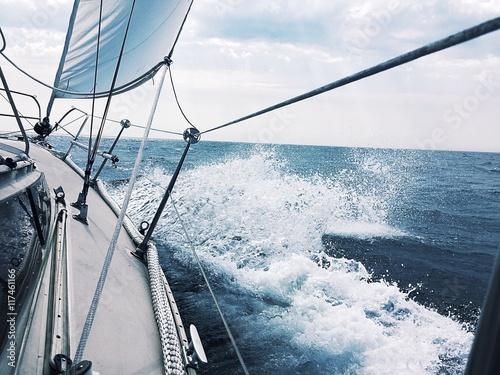 Zdjęcia na płótnie, fototapety, obrazy : Segelspass auf der Nordsee