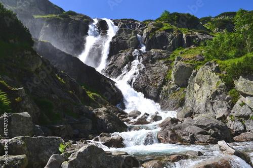 góry Tatry - wodospad Wielka Siklawa