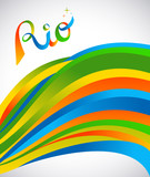 Rio design for sport games of rio with color art
