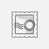 Philately sketch icon.