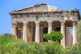 The temple of Hephaestus in Ancient Agora of Athens, Greece.