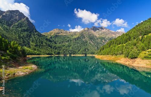 Pian Palu' lake in Stelvio national park - Trentino, Italy Poster