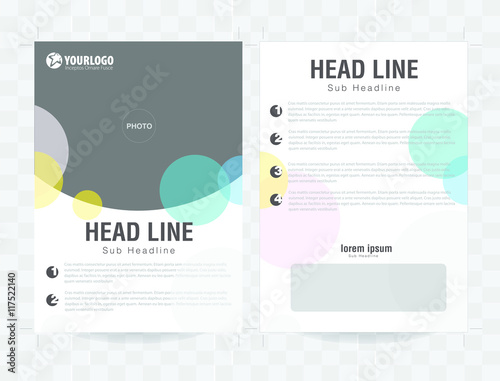 Poster Corporate Vector brochure template design with elements