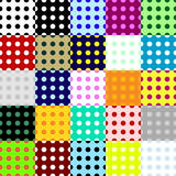 Big collection seamless patterns made of dots.