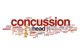 Concussion word cloud concept