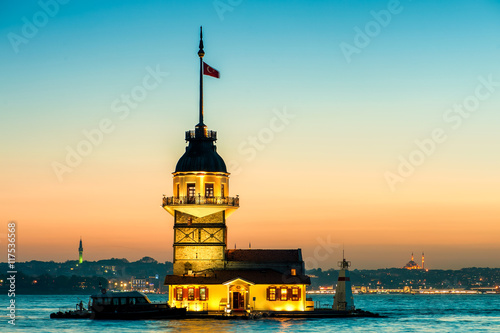 Istanbul Maiden's Tower Poster