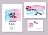 Handmade watercolor texture collection of Rose Quartz paint.