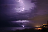Thunder Storm and Lightning over the Gulf of Mexico