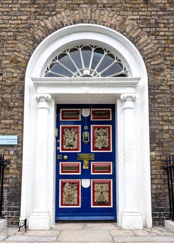 Poster Irland - Dublin - bunte Türen am Merrion Square Park