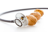 Stethoscope with nuts