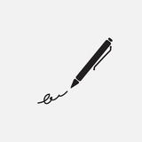 The signature, pen, undersign, underwrite, ratify simple icon