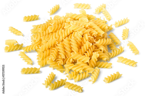 uncooked spiral pasta Poster