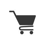 shopping cart market store buy icon. Isolated and flat illustration. Vector graphic