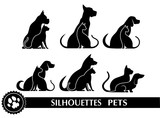 silhouettes of pets - 117614766