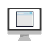 webpage computer technology gadget icon. Isolated and flat illustration. Vector graphic