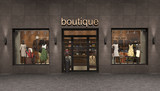 store exterior, 3d illustration - 117633705