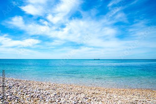 Beautiful sea landscape. Composition of nature.