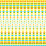chevron and stripes vector seamless pattern in summer colors - 117665176