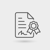 digital signature thin line icon