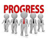 Progress Businessmen Shows Improvement Growth 3d Rendering