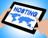 Hosting World Shows Earth Webhosting And Worldwide Tablet