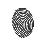fingerprint security system protection icon. Isolated and flat illustration. Vector graphic