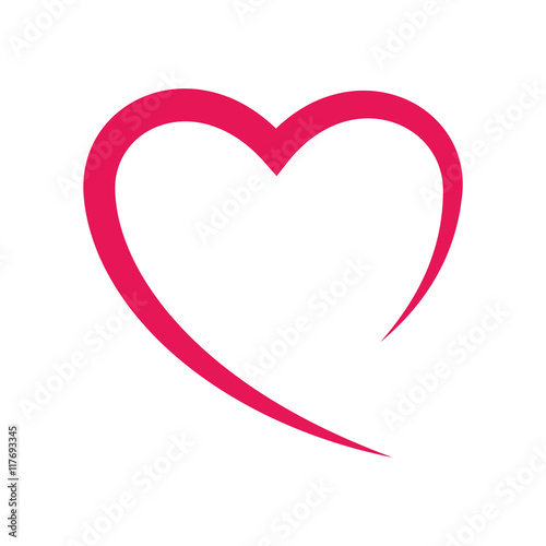 heart love romatic passion icon. Isolated and flat illustration. Vector graphic - 117693345