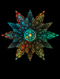 Abstract  fractal 3D fantastic flower