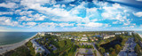 Aerial panoramic view of Naples beach at dusk, Florida