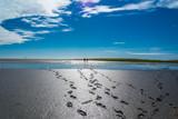 Fußspuren im Wattenmeer