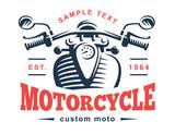 Motorcycle logo illustration. Vintage emblem - 117728181