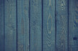 Wooden planks with blue paint