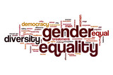 Gender equality word cloud concept