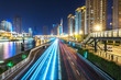 Light Trails On Street During Night,Tianjin China.