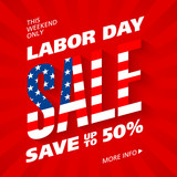 Labor Day Sale advertising banner design