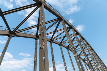 steel bridge arches