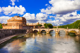 Landmarks of Italy - Castle Sant Angelo in Rome