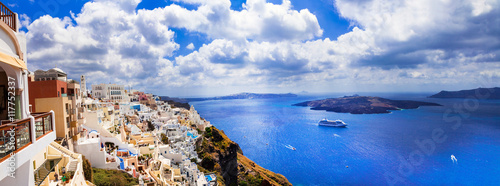 Zdjęcia na płótnie, fototapety, obrazy : unique impressive Santorini, view with volcano. Greece