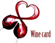 Quadro Splash of red wine in a heart shape isolated on white