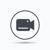 Video camera icon. F...