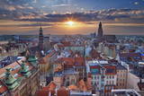 Wroclaw. Image of Wroclaw, Poland during summer sunset. - 117773505