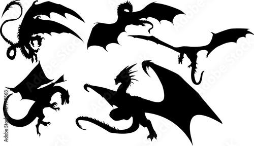 ドラゴンのシルエット