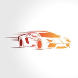 Speed sport car